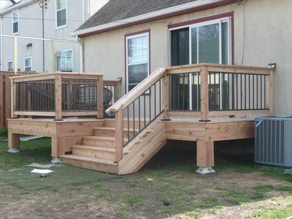 Newly Built Cedar Deck