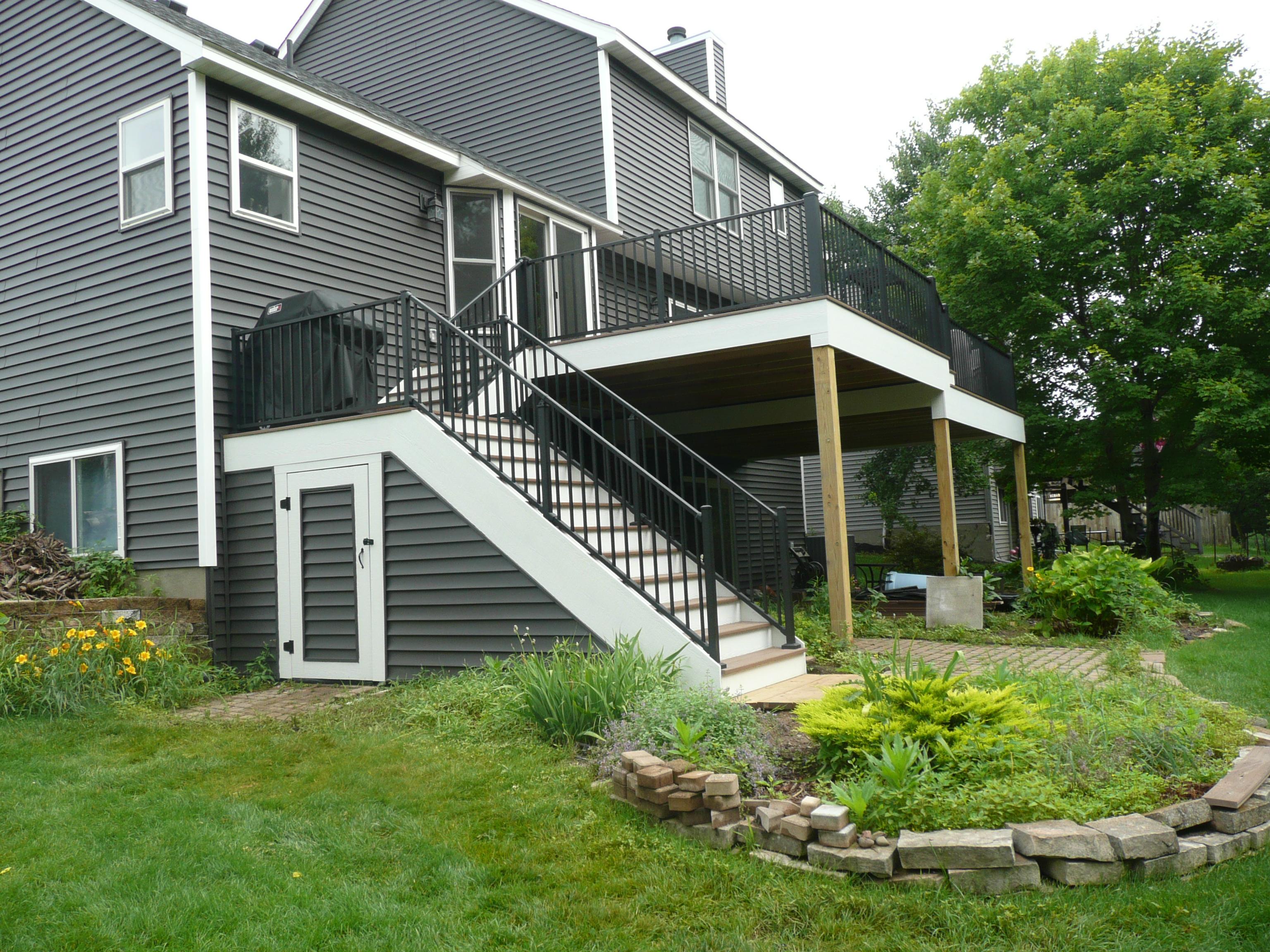 Deck Storage Area Railing Inver Grove Heights