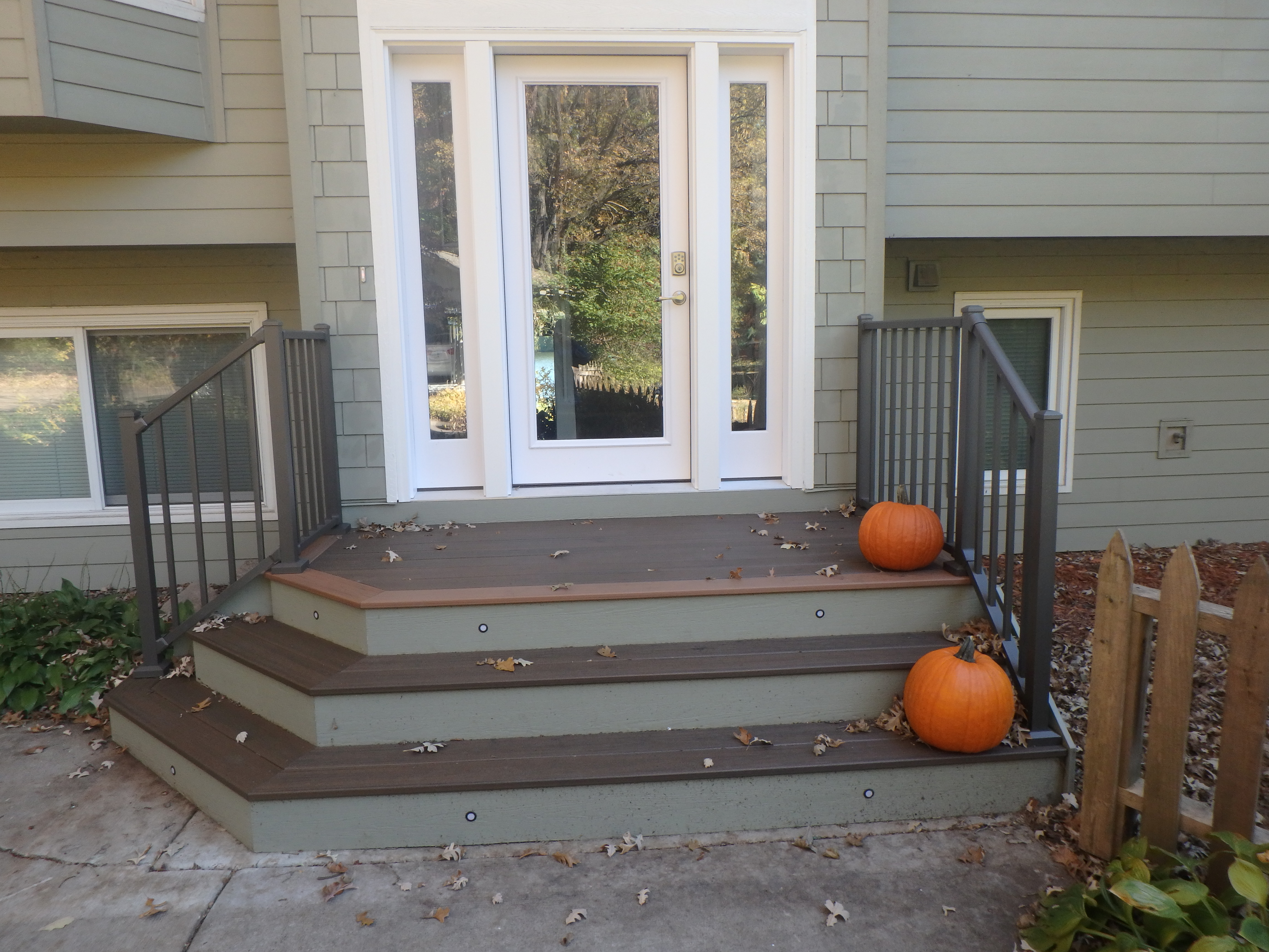 Pumpkin Fall Front Porch Trex Deck