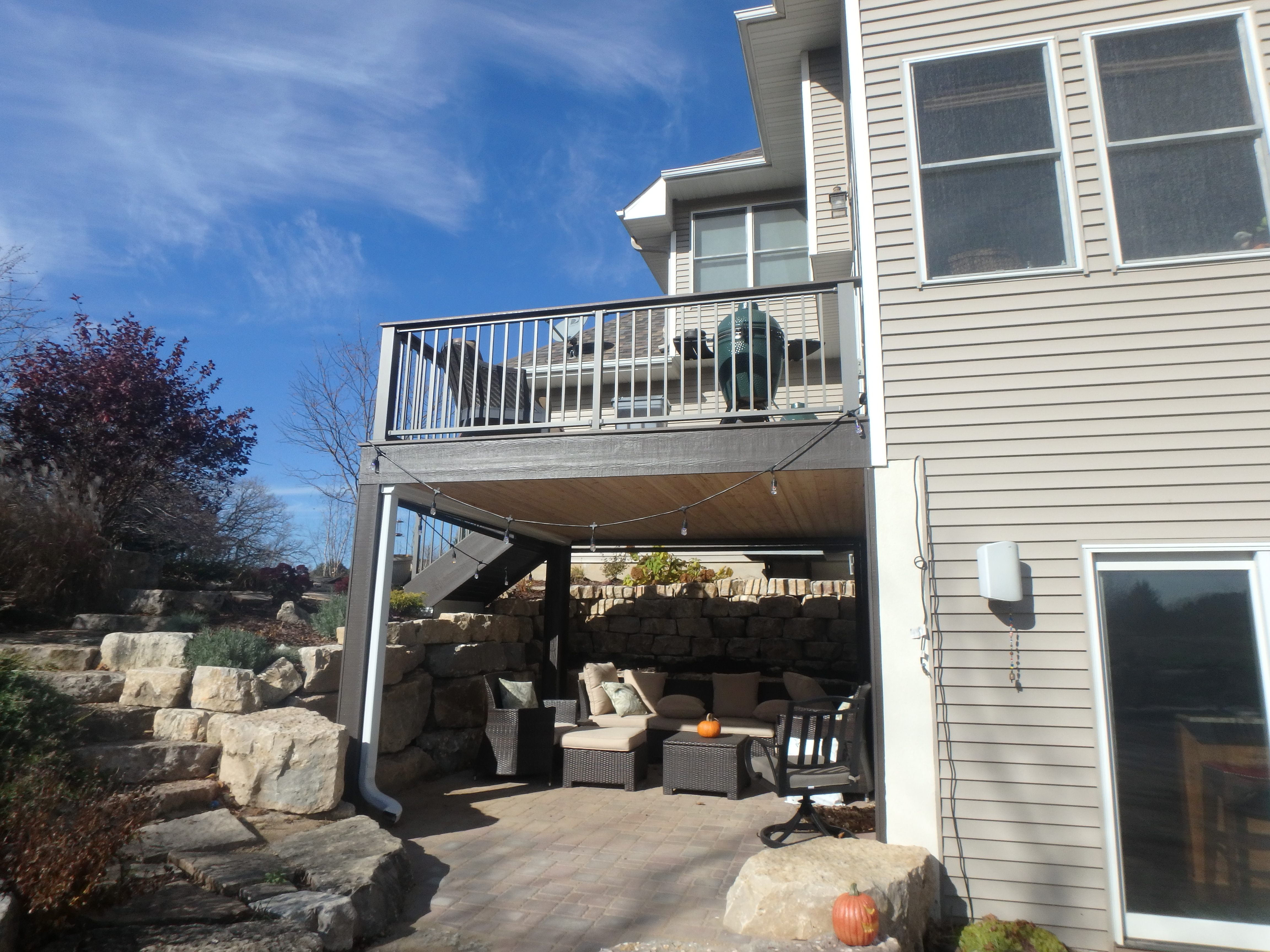 Trex Deck Westbury Railing Rain Escape Larson Grand Vue Screens