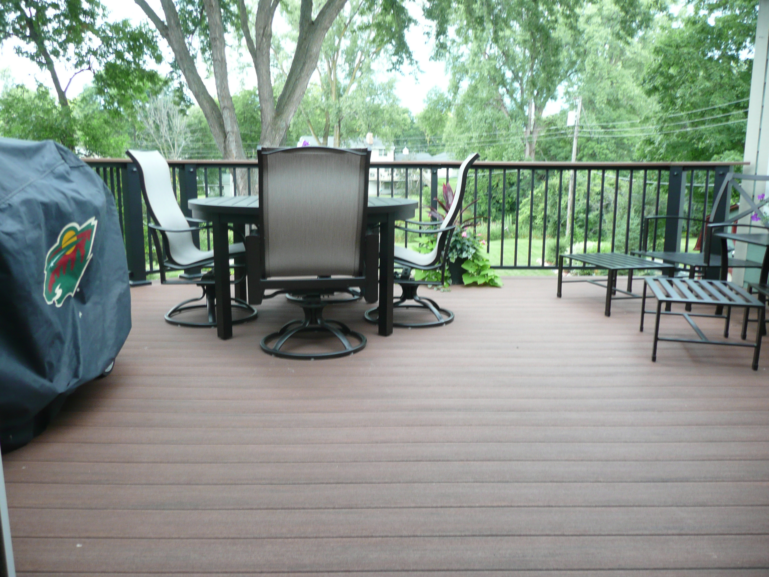 Low Maintenance, Azek Deck, Metal Railing