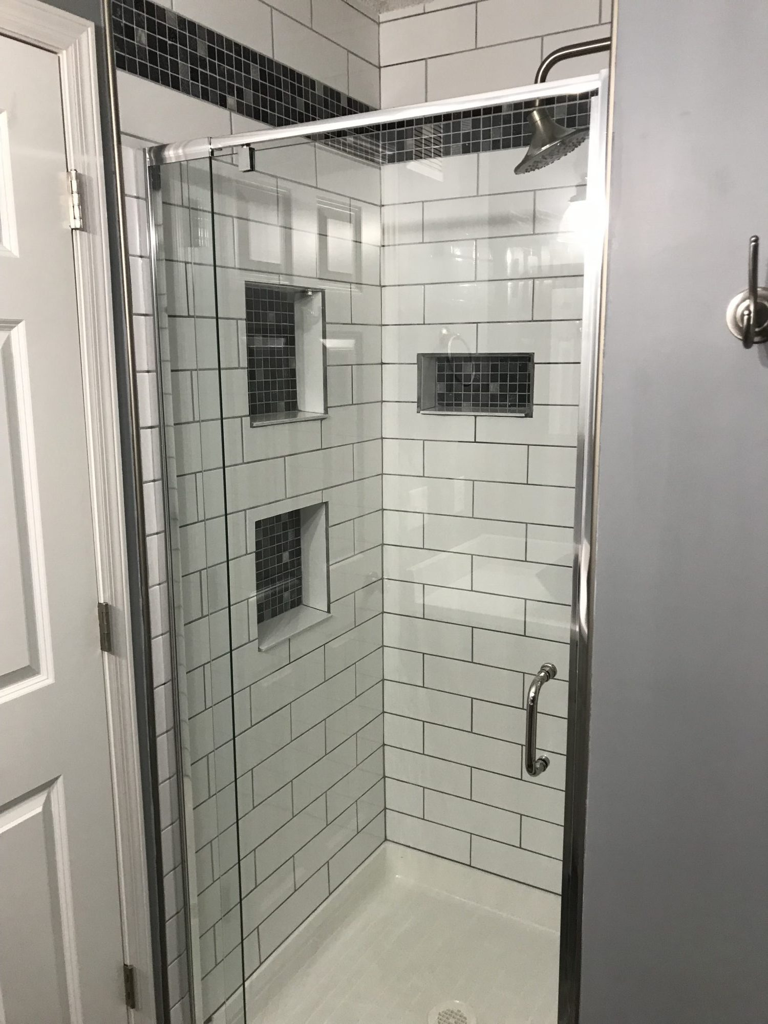 Tile Shower Glass Door